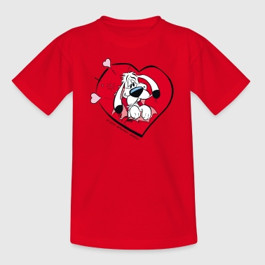 Asterix & Obelix - Idefix heart Teenager T-Shirt - Teenager T-shirt