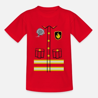 Firefighter Costume - T-shirt tonåring