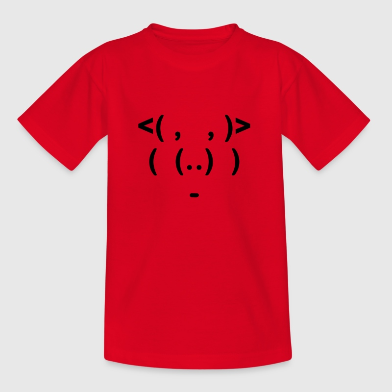 ASCII Schwein - Teenage T-shirt