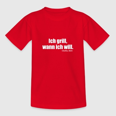 Grillsprüche - Teenager T-Shirt