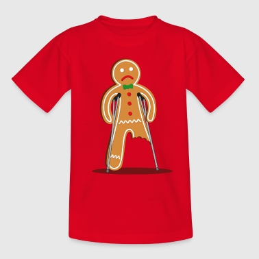 gingerbread man hurt (red) - Teenage T-Shirt