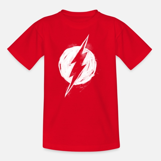 Sheldon T-shirts - Flash Logo Painted Ado Tee Shirt - T-shirt Ado rouge