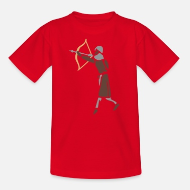 Medieval Combat Sport Archer Medieval Icon patjila design - Teenage T-Shirt