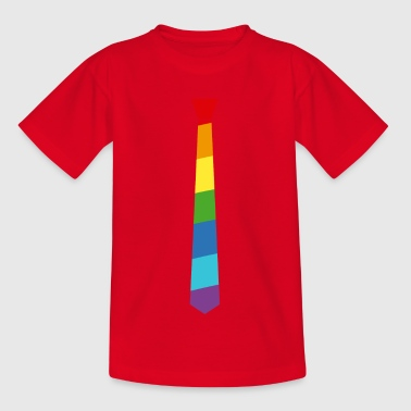 Regenbogen Krawatte - Fahne - Flagge - Gay Pride - Teenager T-Shirt
