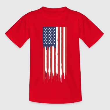 Amerikaanse vlag - Teenager T-shirt