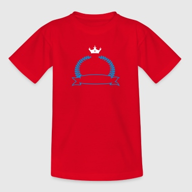 Lorbeerkranz mit Banner und Krone / laurel banner with crown (2c) - Teenager T-Shirt