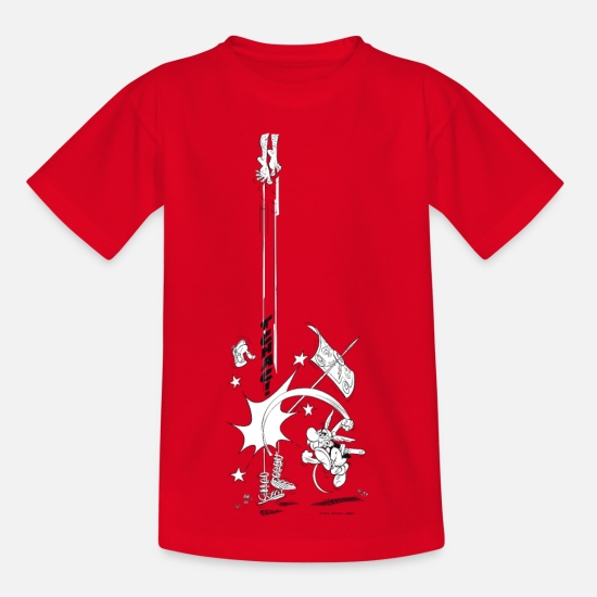 Asterix T-Shirts - Asterix & Obelix Tchac! Teenager T-Shirt - Teenage T-Shirt red