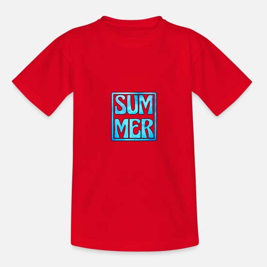 Gift Idea T-Shirts - summer - Teenage T-Shirt red