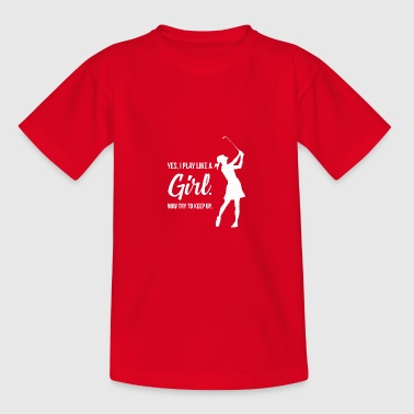 Golf Sjov Golf Golfer Golf Course Golfer - Teenager-T-shirt
