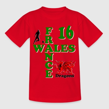 Wales Dragons 16 - Teenage T-shirt