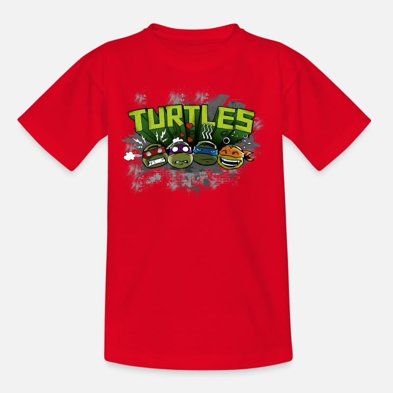 Officialbrands T-Shirts - Teenage Shirt 'TURTLES' - Teenage T-Shirt red
