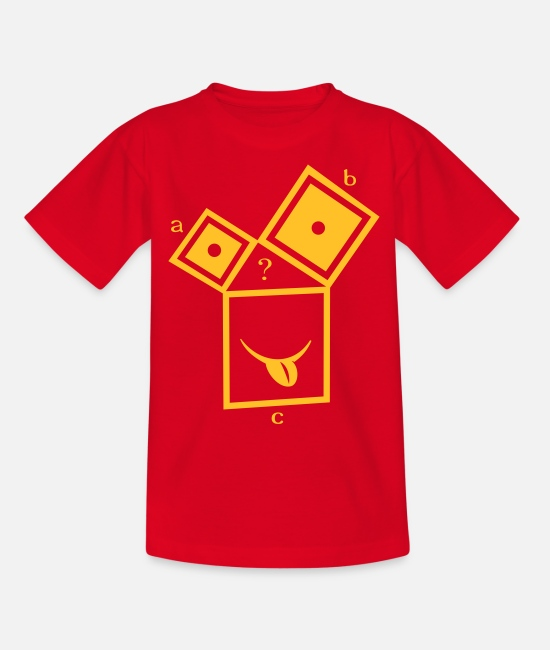Maths T-Shirts - nerdthagoras - Teenage T-Shirt red