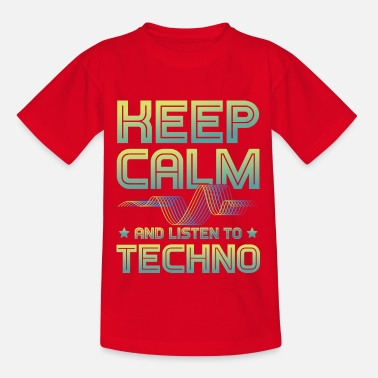 Trance keep calm techno Musik - Teenager T-Shirt