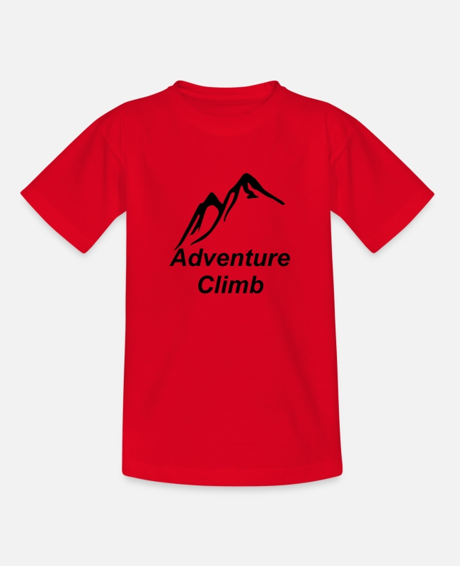 Mountains T-Shirts - Climb - Teenage T-Shirt red