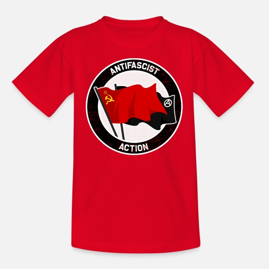 Antifascistisk T-shirts - Antifascistisk handling - T-shirt tonåring röd