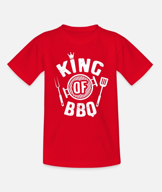 Bbq T-Shirts - BBQ Barbecue Griller Barbecue Grill Barbecue season - Teenage T-Shirt red