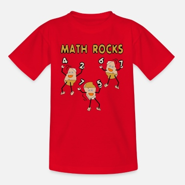 Math Rocks Funny Mathematics - Teinien t-paita