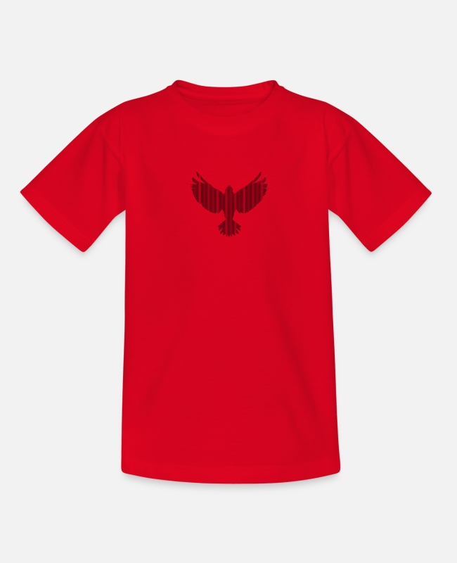 Heaven T-Shirts - bird - Teenage T-Shirt red