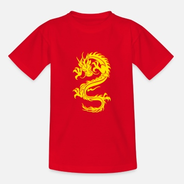 Chinese Dragon Dragon Tribal Tattoo - Teenage T-Shirt