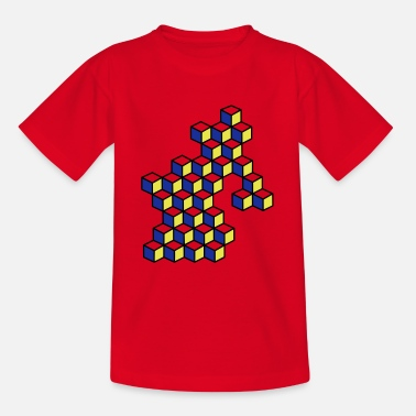Dice and dice in bright colors - Teenage T-Shirt