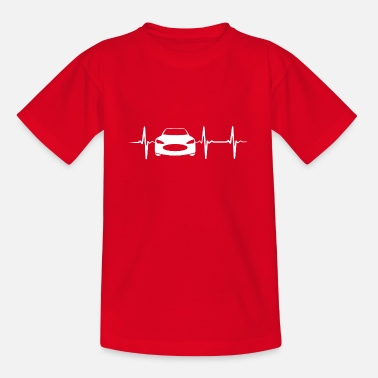 Sports Heartbeat Sports Car - Camiseta adolescente