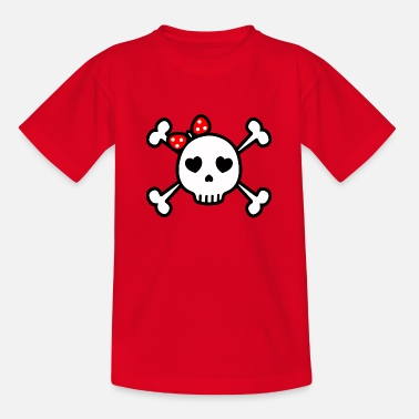 Cute Skull cute skull cute rockabilly skull - Teenage T-Shirt