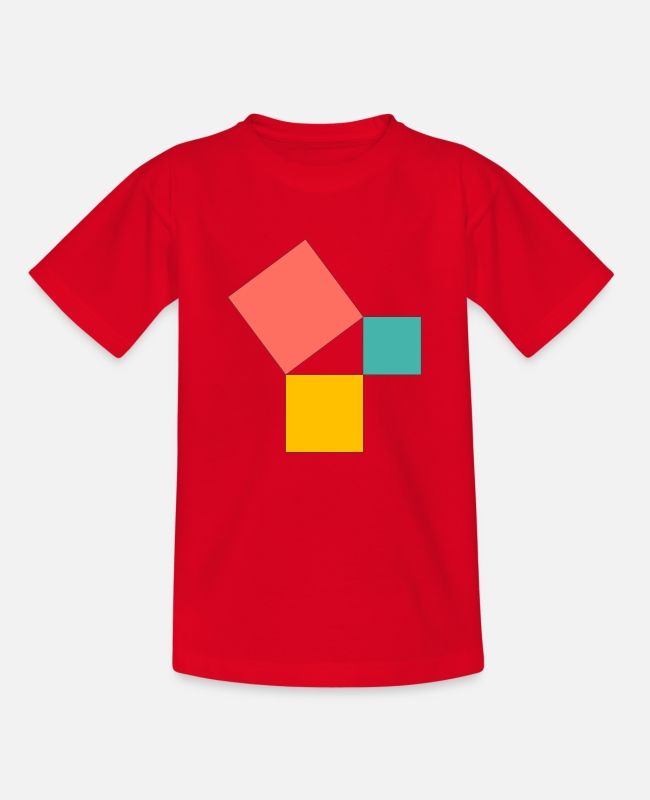 Nature T-Shirts - Pythagorean theorem - Teenage T-Shirt red