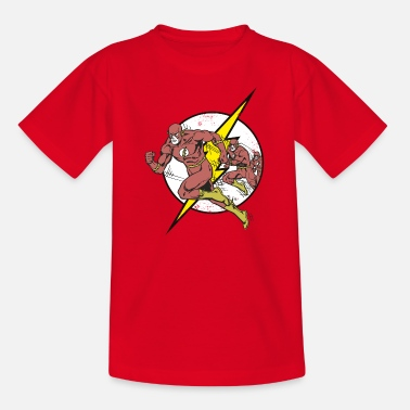 Officialbrands DC Comics Originals Flash Court Rétro - T-shirt Ado