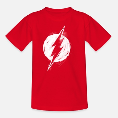 Officialbrands DC Comics Ligue De Justice D'Amérique Flash Logo - T-shirt Ado