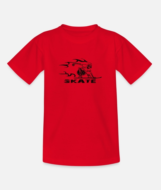 Speed T-Shirts - SKATE - Teenager T-Shirt Rot