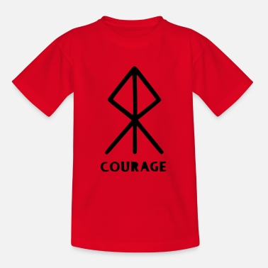 Rune for courage - Teenage T-Shirt
