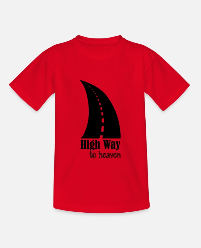 Travel Bug T-Shirts - high way to heaven - Teenage T-Shirt red