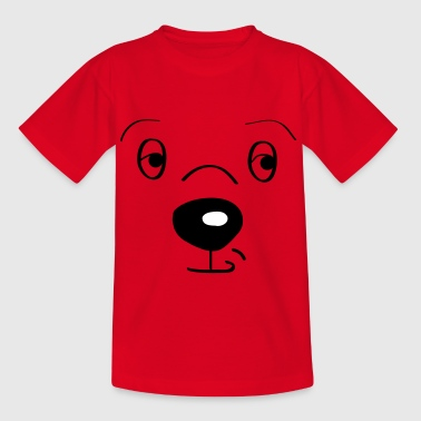 hund ansigt - Teenager-T-shirt