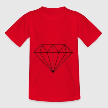 Line Diamond - Teenager-T-shirt