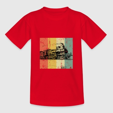 Railway steam locomotive locomotive train gift - Teenage T-shirt