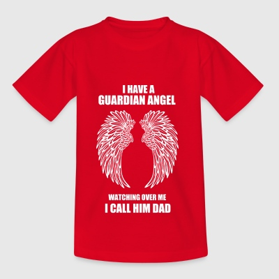 Father angel wing protector gift - Teenage T-shirt