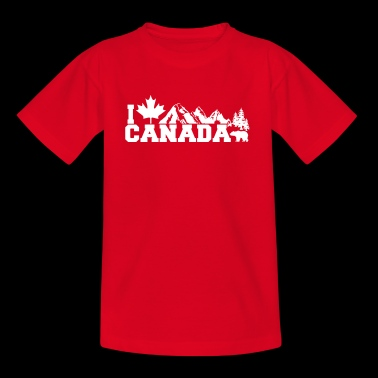 I Love Canada Leaf Ahorn Blatt Forrest - Teenager T-Shirt