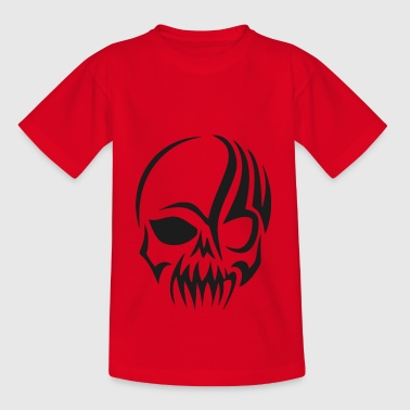 tribal kraniet - Teenager-T-shirt