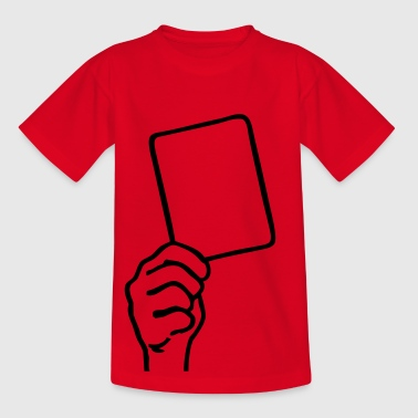 Soccer - Red card - Teenage T-shirt
