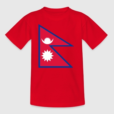 Nationalflagge von Nepal - Teenager T-Shirt
