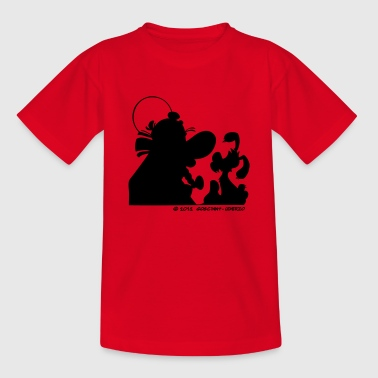 Asterix & Obelix with Idefix shadowTeenager T-Shir - Teenage T-shirt