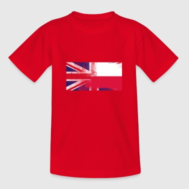 British Polish Half Poland Half UK Flag - Teenage T-shirt
