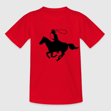 Cowboy on a Horse - Teenage T-shirt
