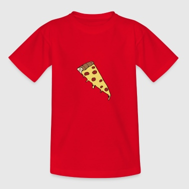 Pizza skive tegning - Teenager-T-shirt