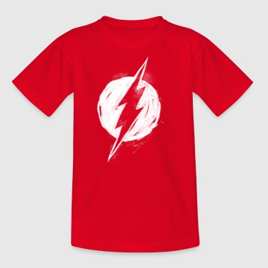 Justice League Flash Logo painted Pull  - T-shirt Ado