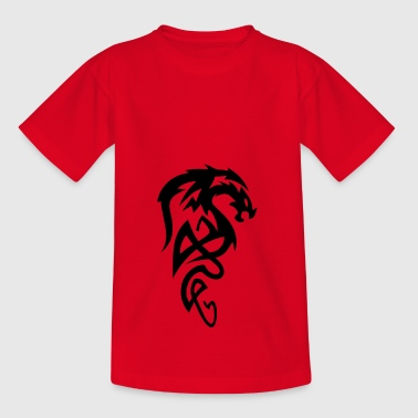 Dragonborn Dragon Art Symbol Games Tribal shirt - Teenage T-shirt
