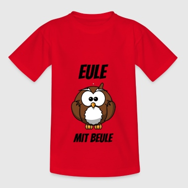 Eule mit Beule lustiges Shirt - Teenager T-Shirt