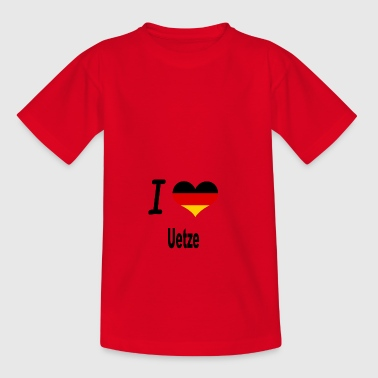 I Love Germany Home Uetze - Teenager T-Shirt