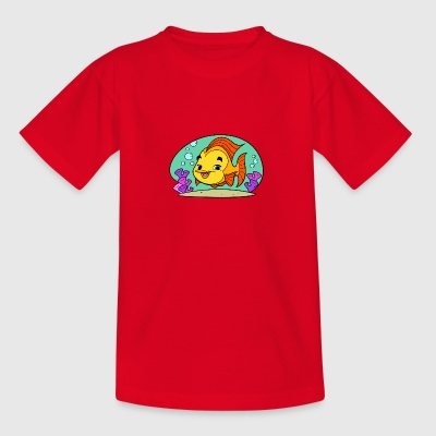Fishy Tiny Art Collection - Teenage T-shirt