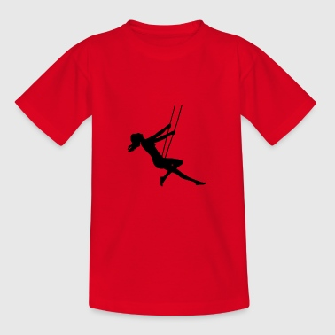 Girl on swing - Teenage T-shirt